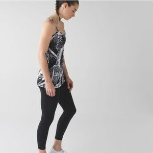 Lululemon Power Y Tank Static Mist Black White